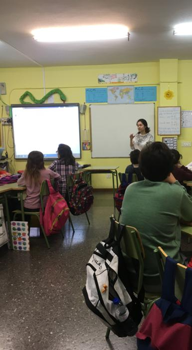 Greyhounds in Need visit Spanish schools to see galgo education in action