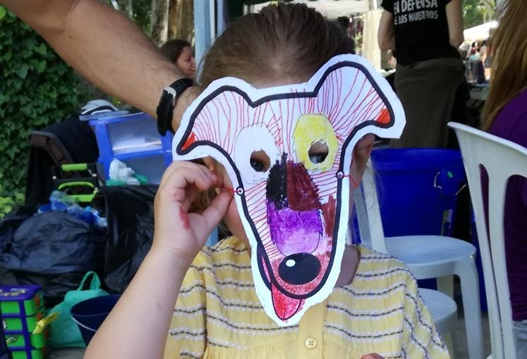 Albacete Vegan Fair - galgo face masks