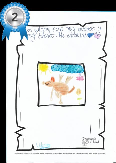 2nd place - Valentina age 9