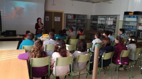 Visits to schools in La Roda and Elche de la Sierra.